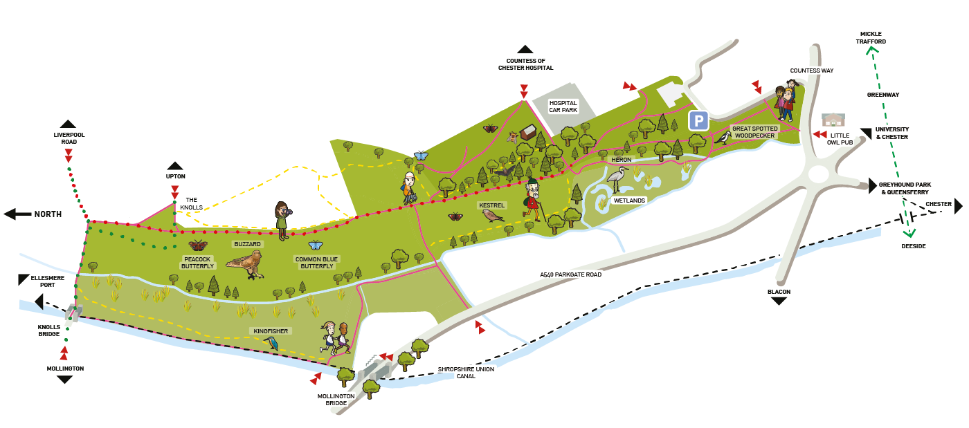 Countess of Chester Country Park map