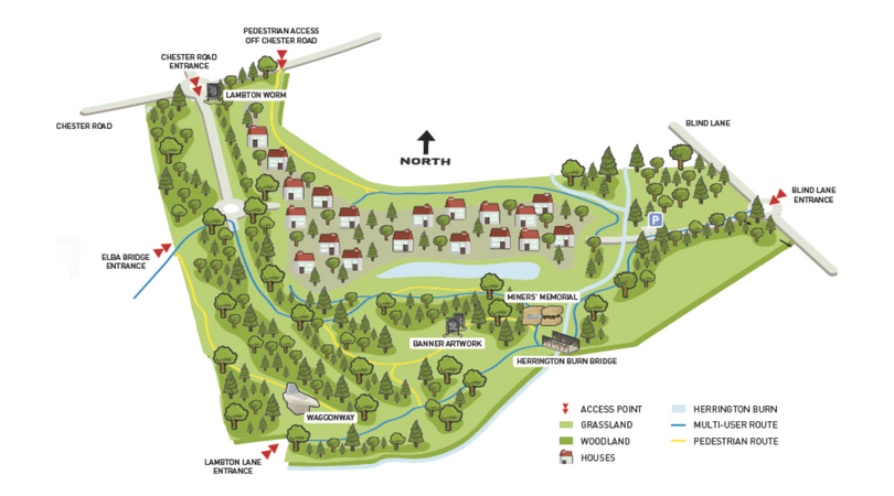 Elba Park site map