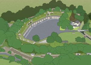 Illustration of Fort Burgoyne
