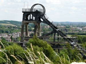 A picture of the Pleasley Pit mining museum winding engine.