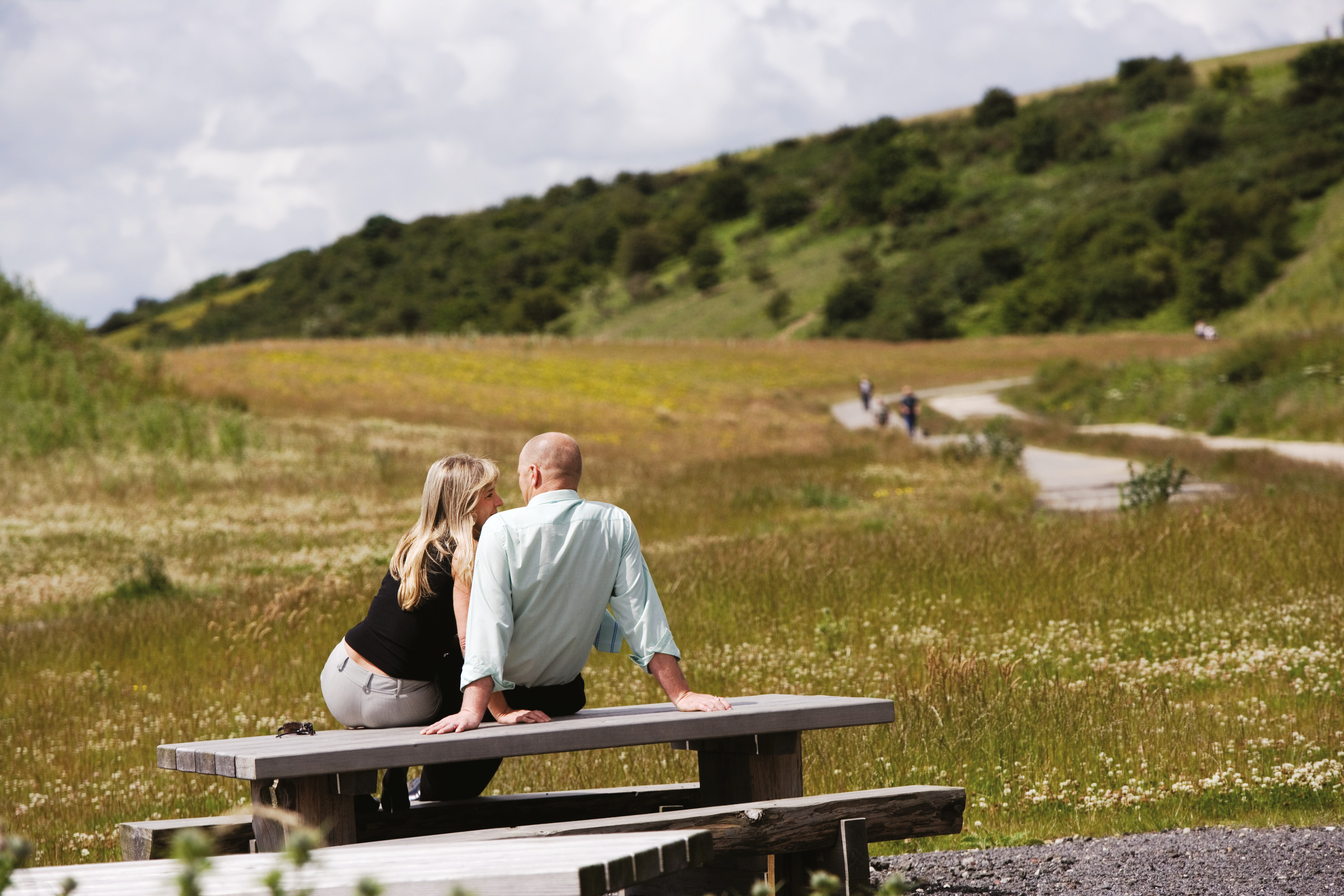 Couple on park bench at Weetslade