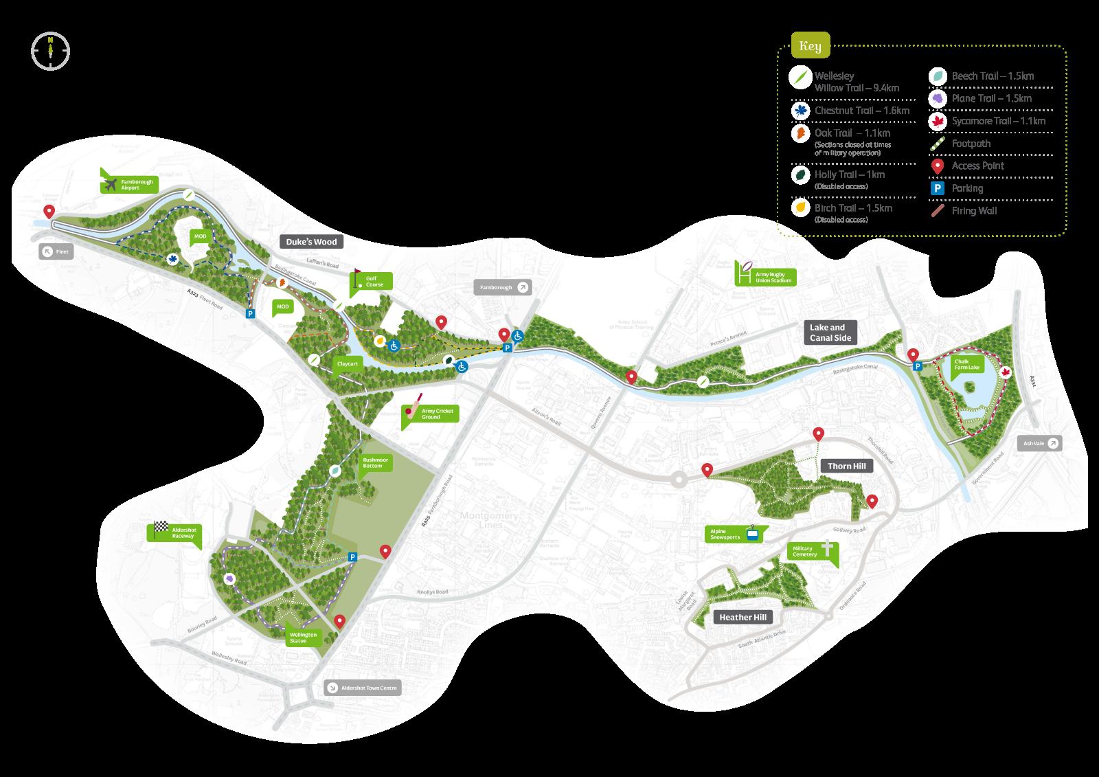 Wellesley Woodlands map