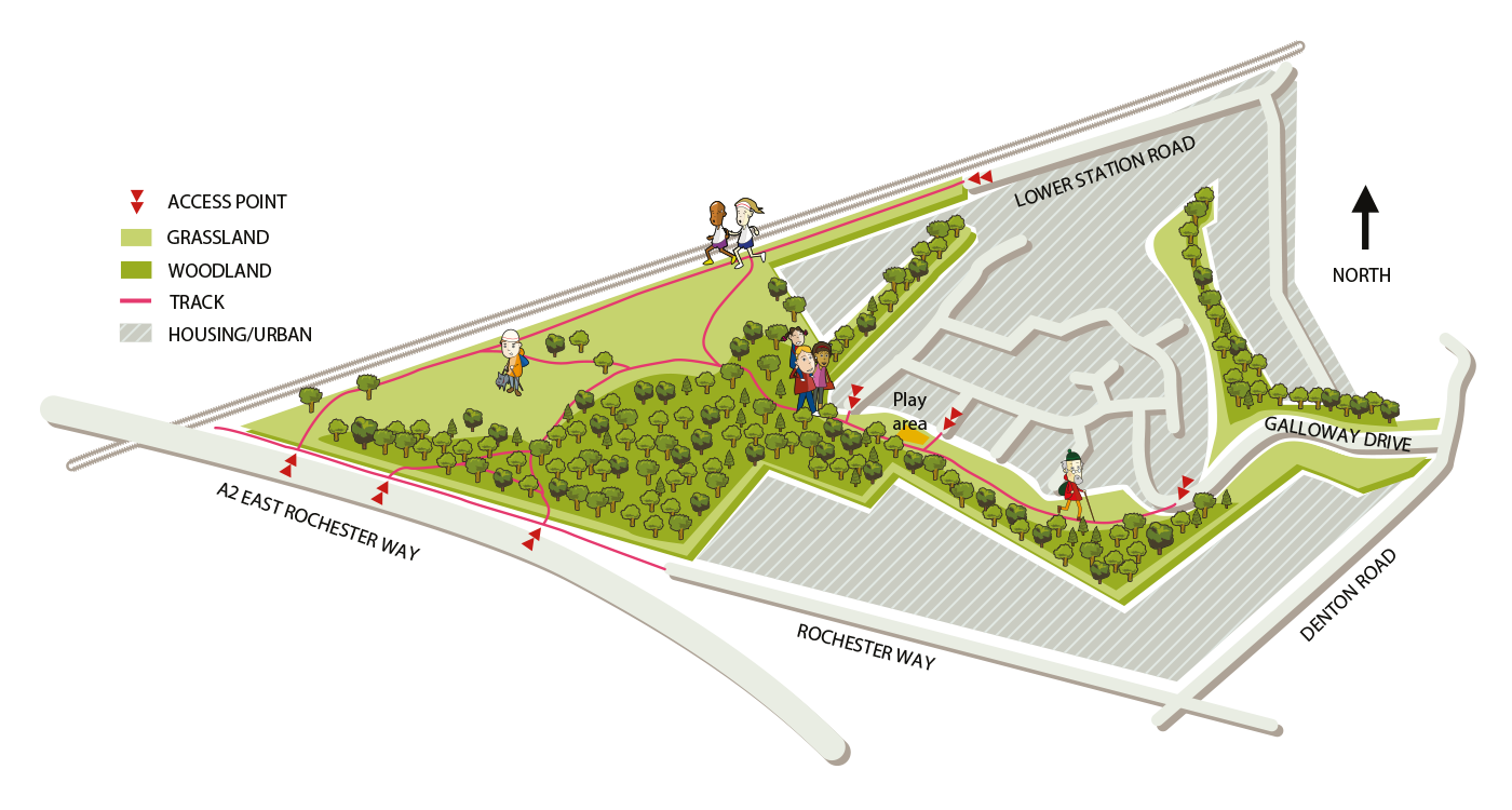 Map of Braeburn Park