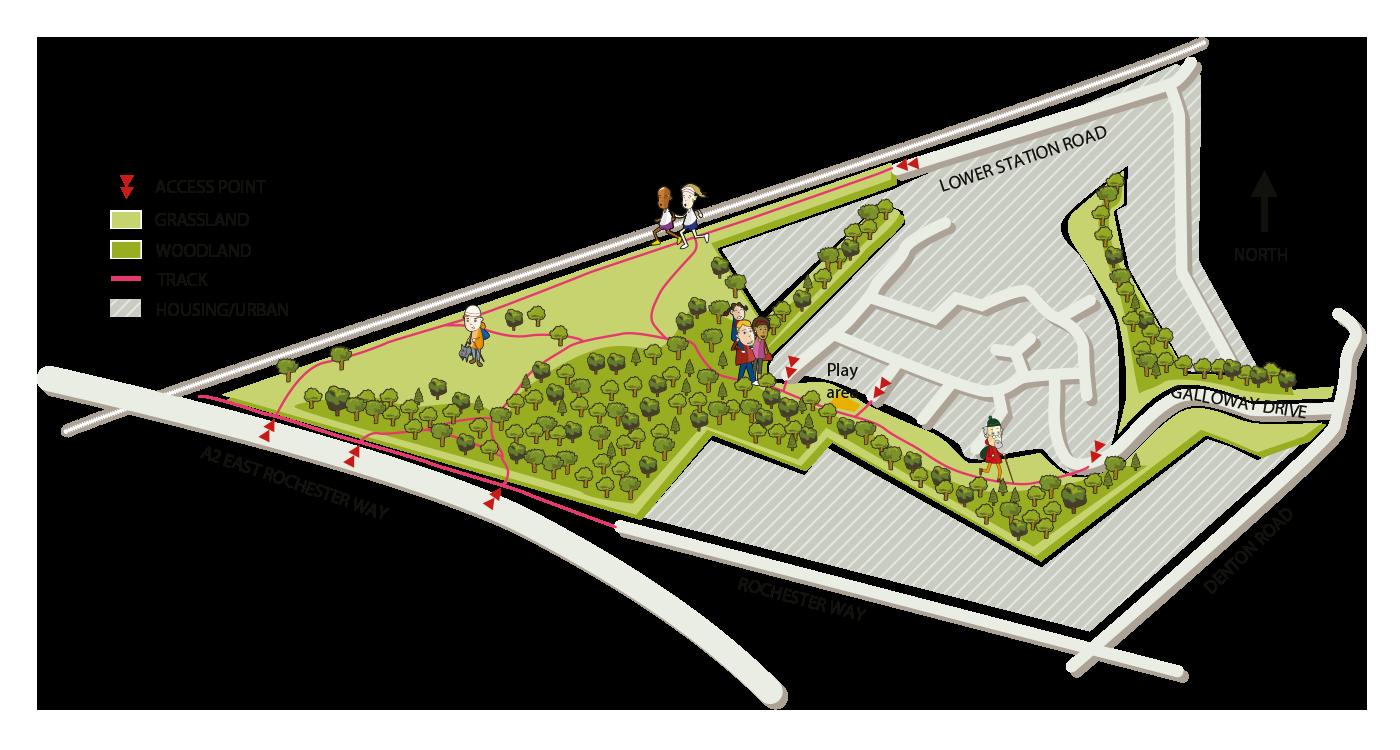 Map of Braeburn Park