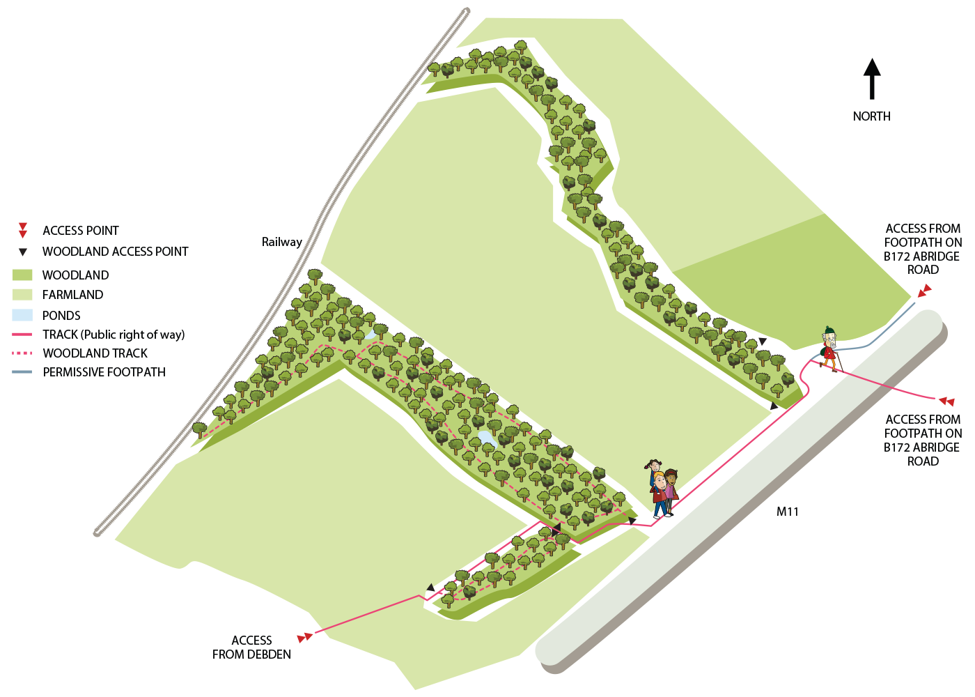 Map of Debden Woodland