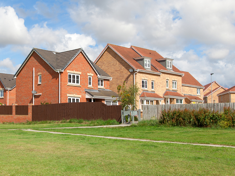 New homes developed by green space