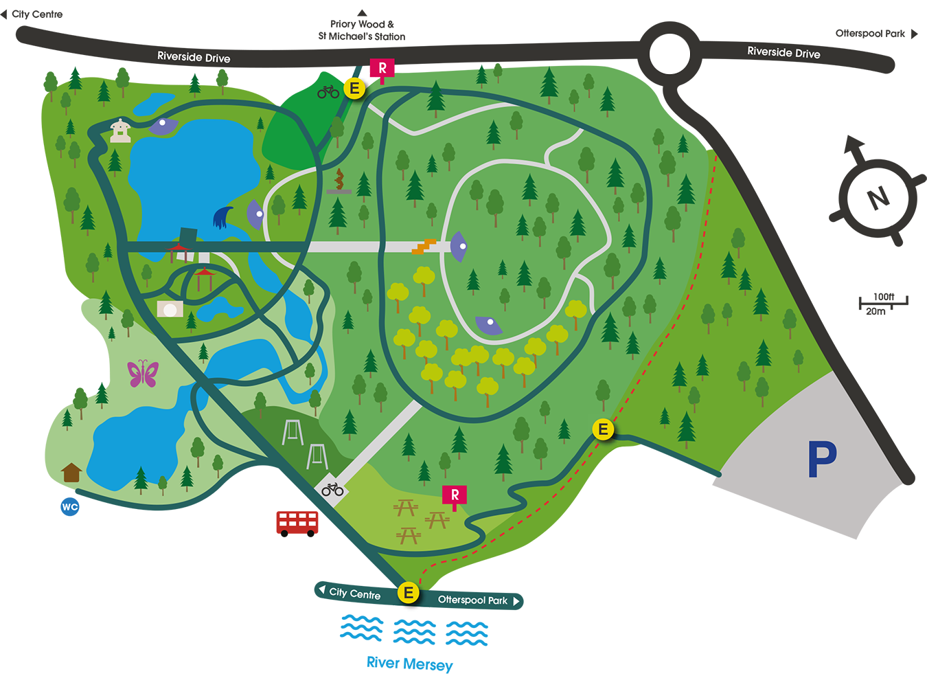 Map of Festival Gardens Liverpool