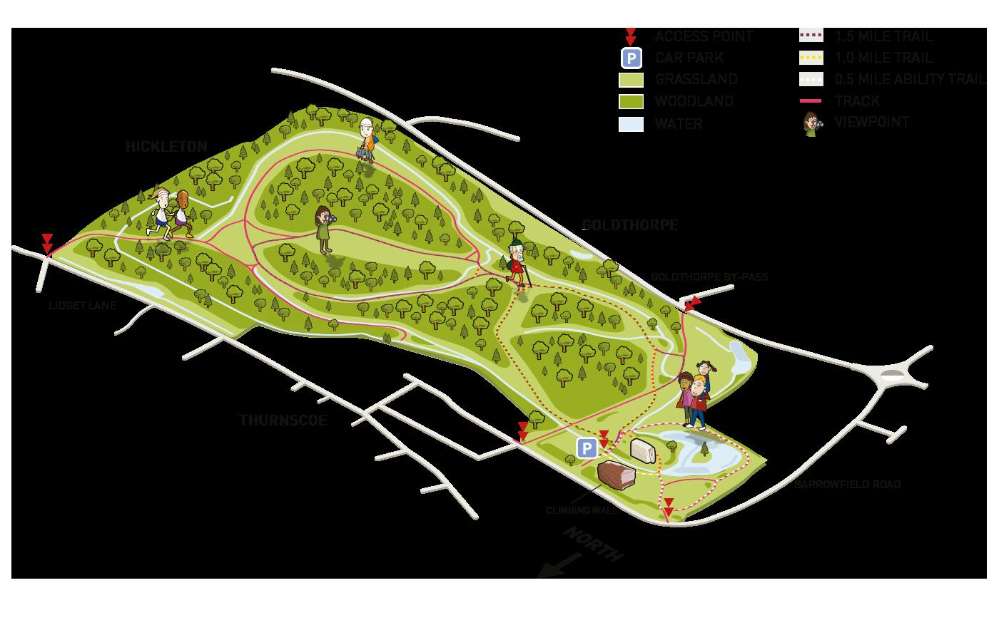 Map of Phoenix Park