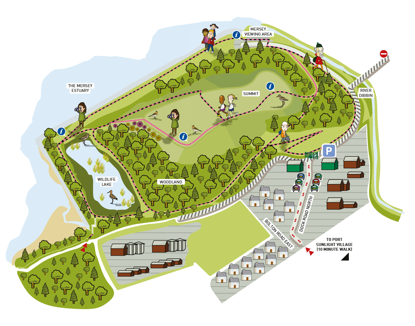 Map of Port Sunlight River Park
