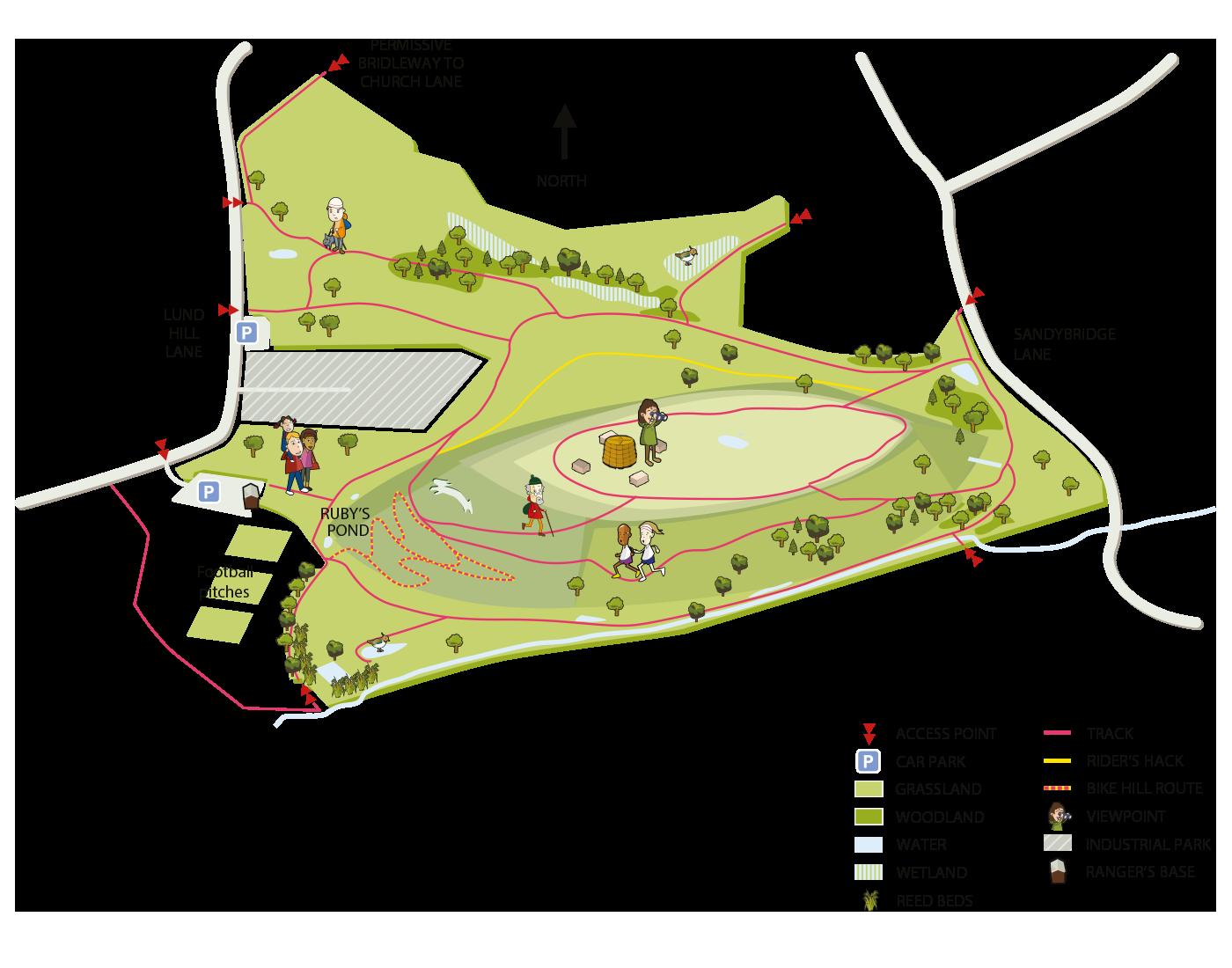 Map of Rabbit Ings