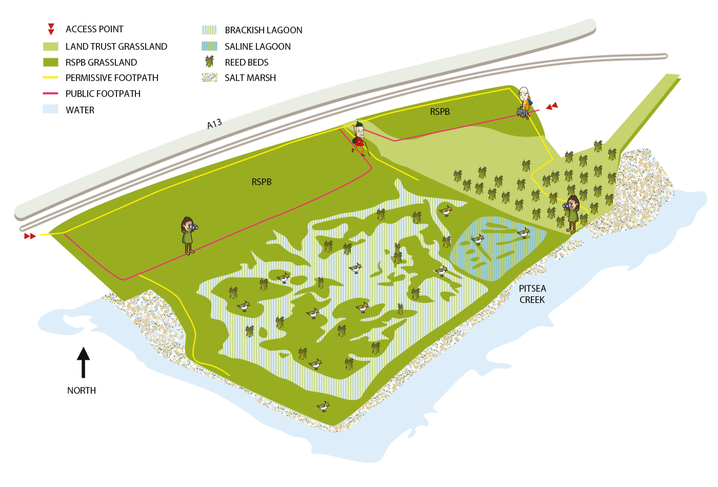 Map of Vange Marsh