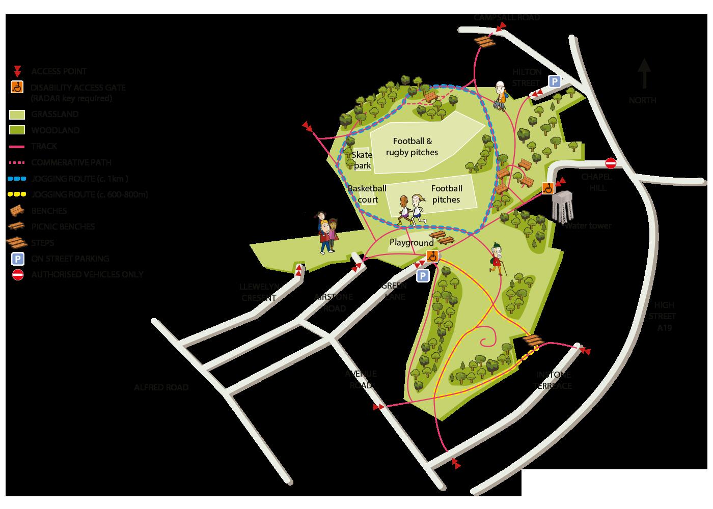 Map of Warren House Park