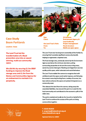 Case study for The Land Trust's Beam Parklands in the north east of the England.