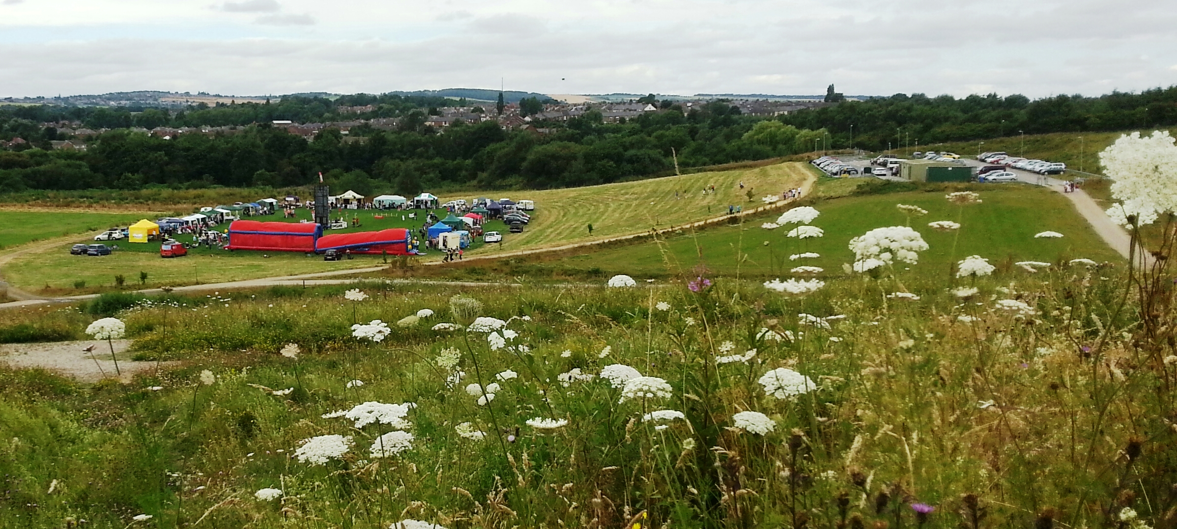 A community Gala held at Land Trust site, Rabbit Ings Country Park in the Summer of 2014