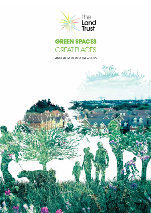 Front cover of The Land Trust's 2015 annual report linked to PDF.