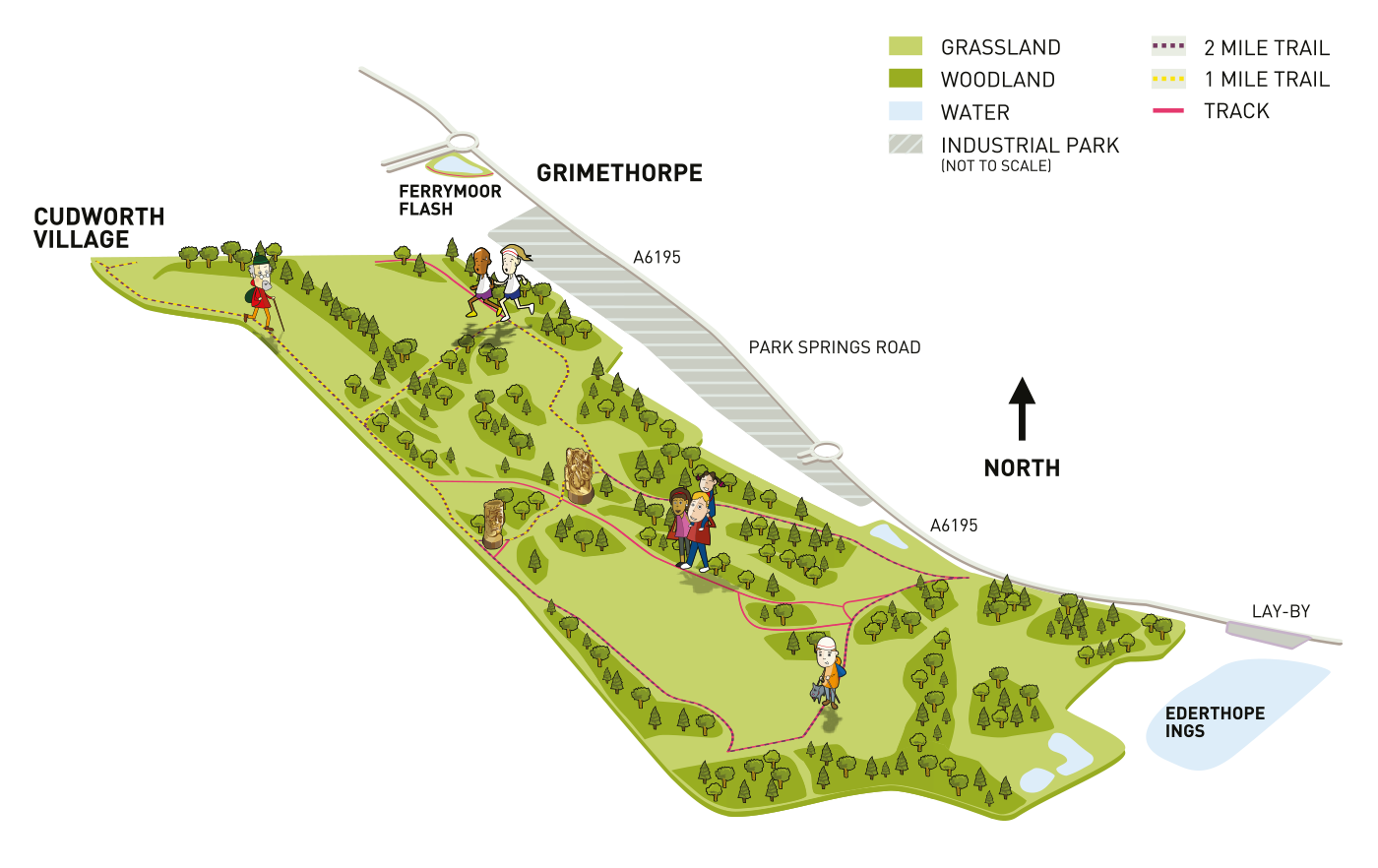 A site map graphic of The Land Trust's Cudworth Common site in Yorkshire