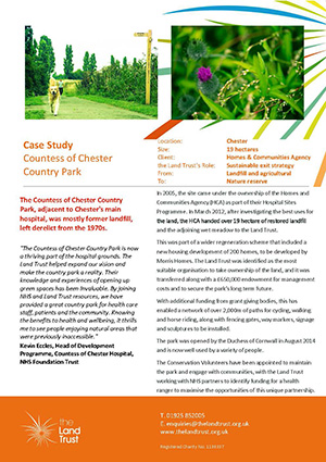 A case study of The Land Trust's Countess of Chester Country Park site.
