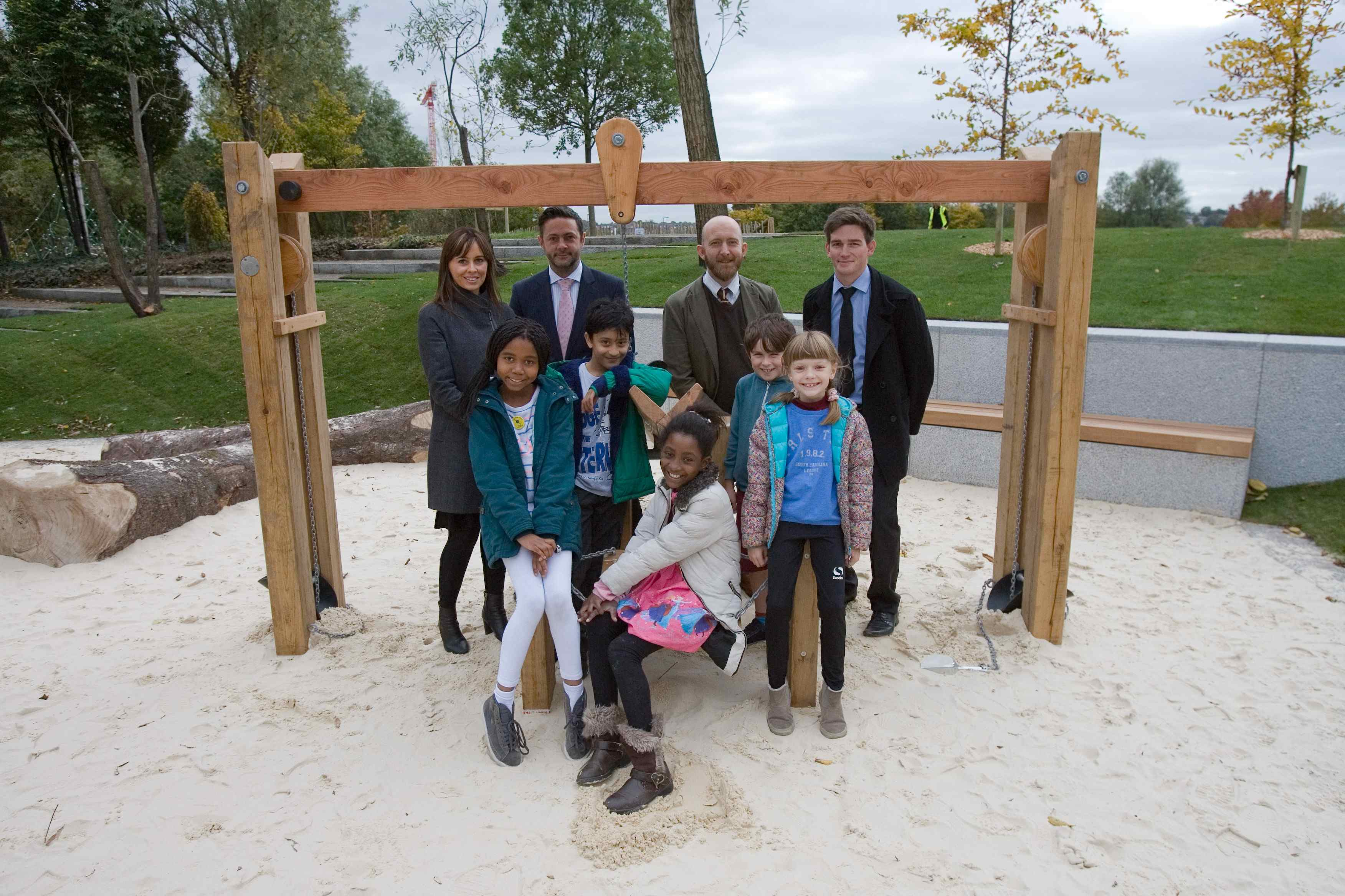 Life at greenwich millennium village is a playground the for Swingvillage