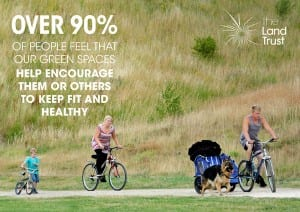 Green spaces help us keep fit