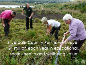 Silverdale Country Park is worth over £1m annually in community value