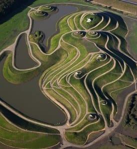 Aerial View of Northumberlandia