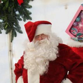 Santa at Northumberlandia