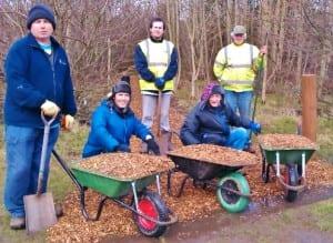Volunteers at Monkton Community Woodlands