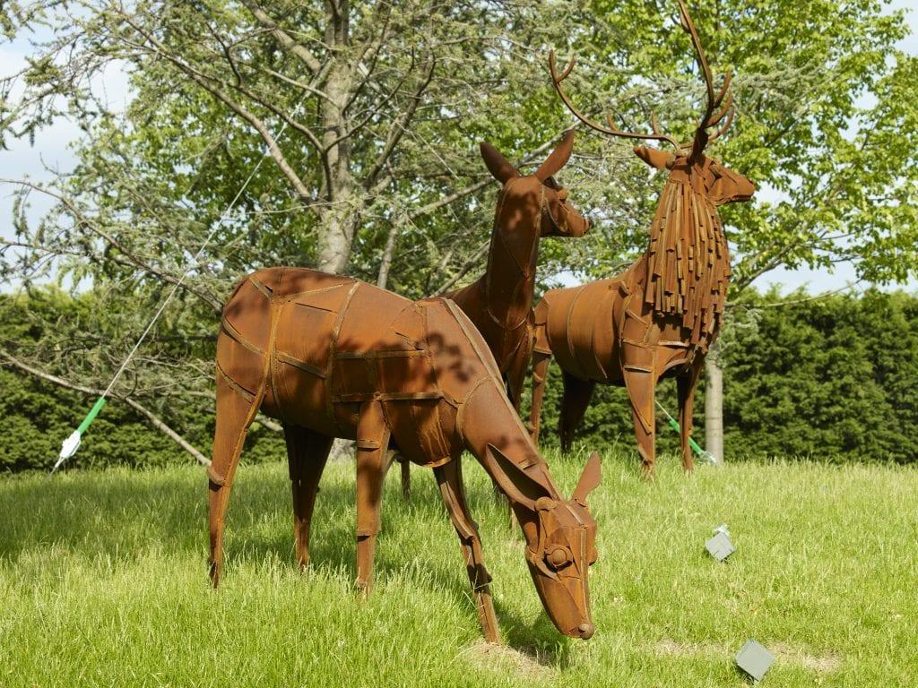 Stag sculptures at Beaulieu