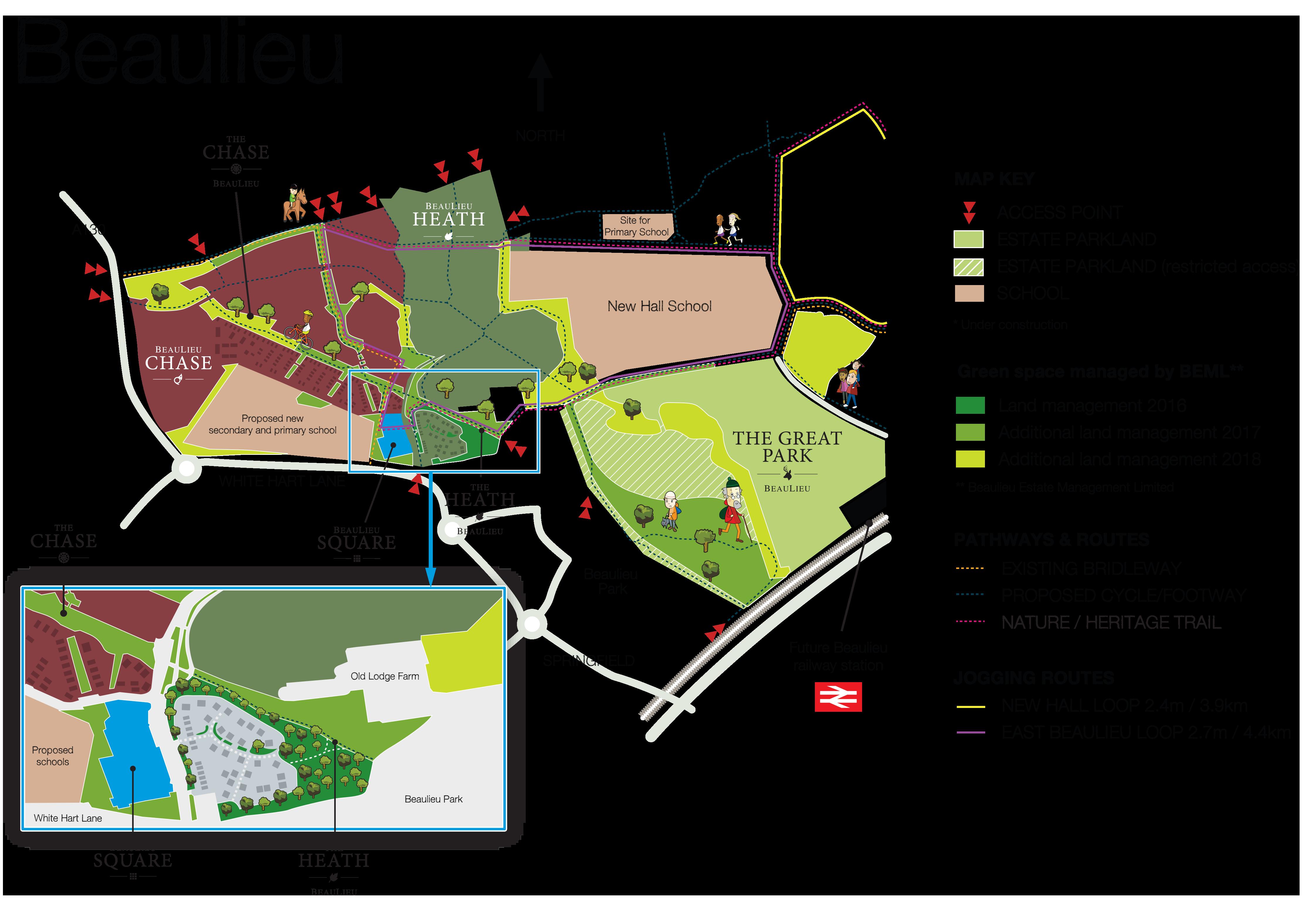 Beaulieu map