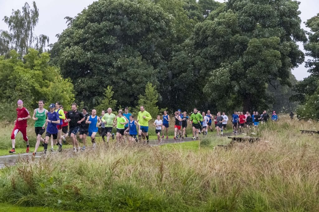 MBNA. Countess of Chester country park fun run in the pouring rain...