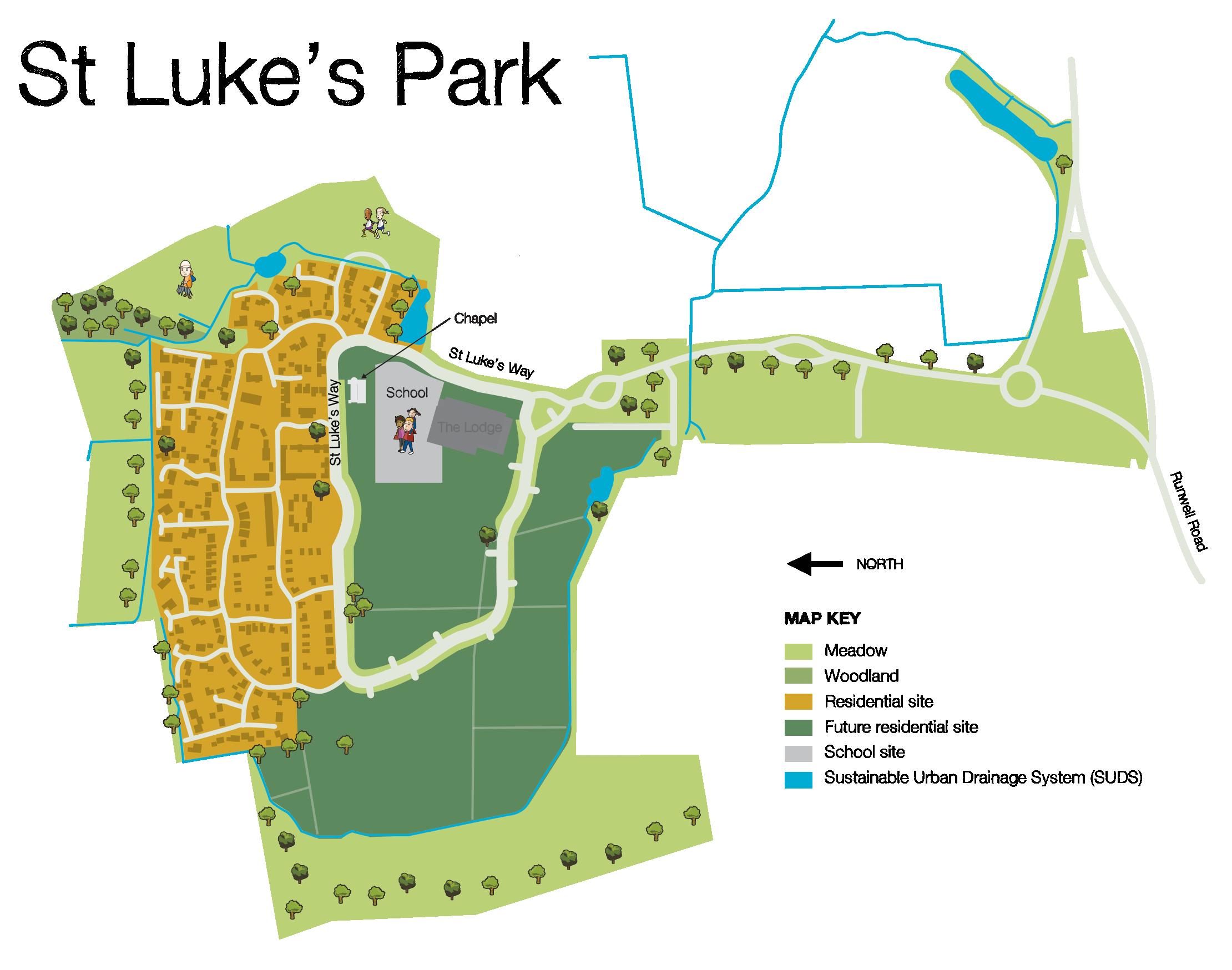 St Luke's Park map