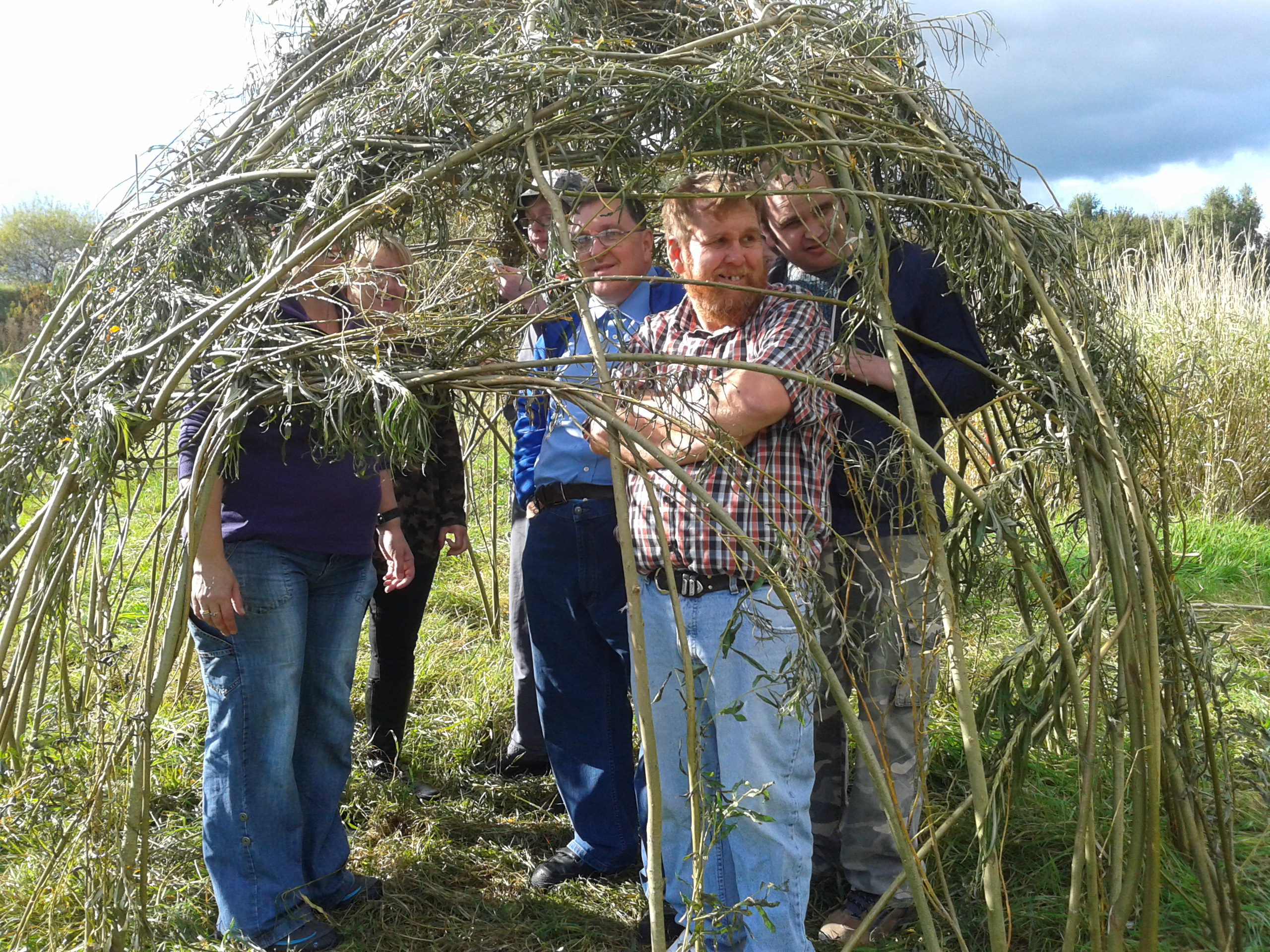 Willow weaving at Ashton's Field