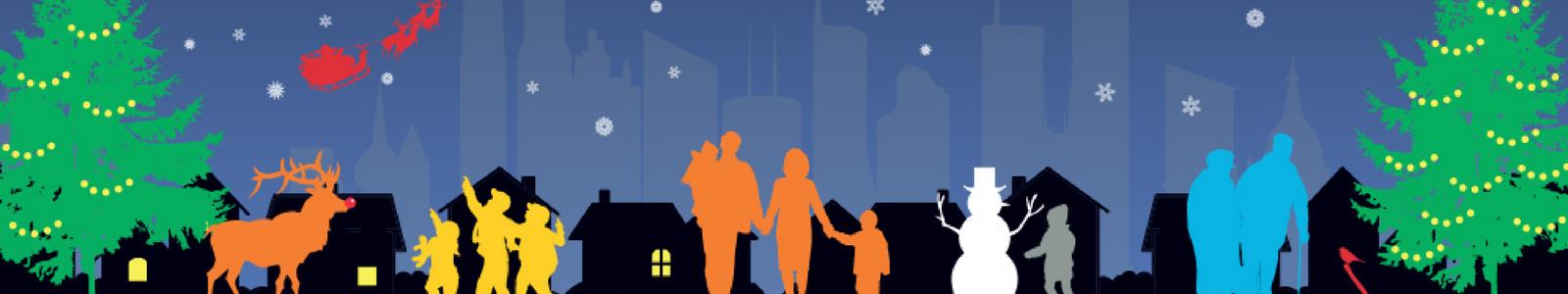 Christmas night banner
