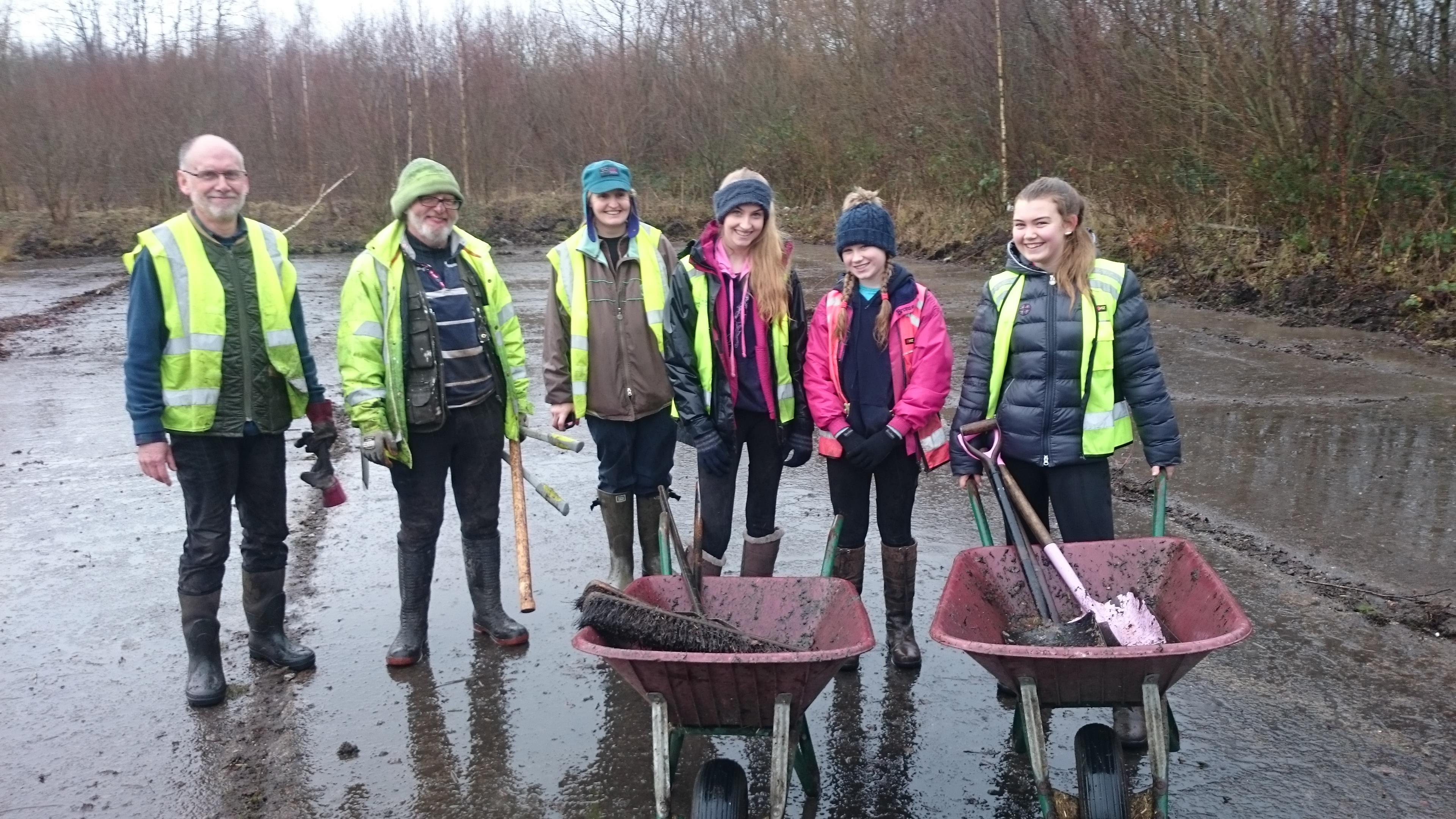 British Horse Society volunteers at Cronton