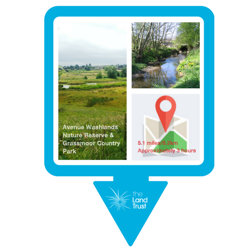 Avenue Washlands to Grassmoor walking route