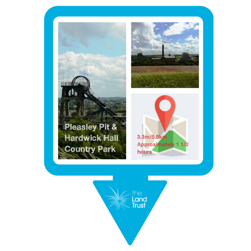 Walking route - Pleasley Pit & Hardwick Hall