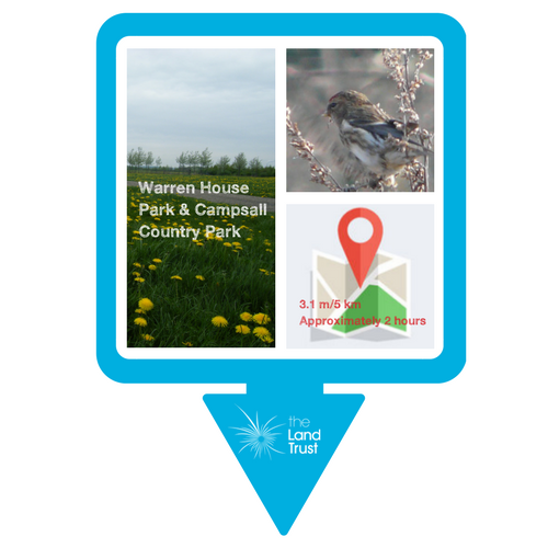 Walking route - Warren House Park & Campsall Country Park