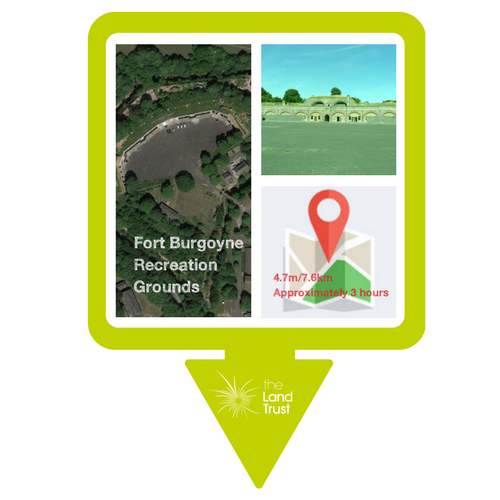 Fort Burgoyne Recreation Ground walking route