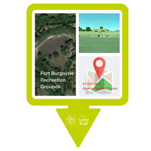 Fort Burgoyne Recreation Ground walking route