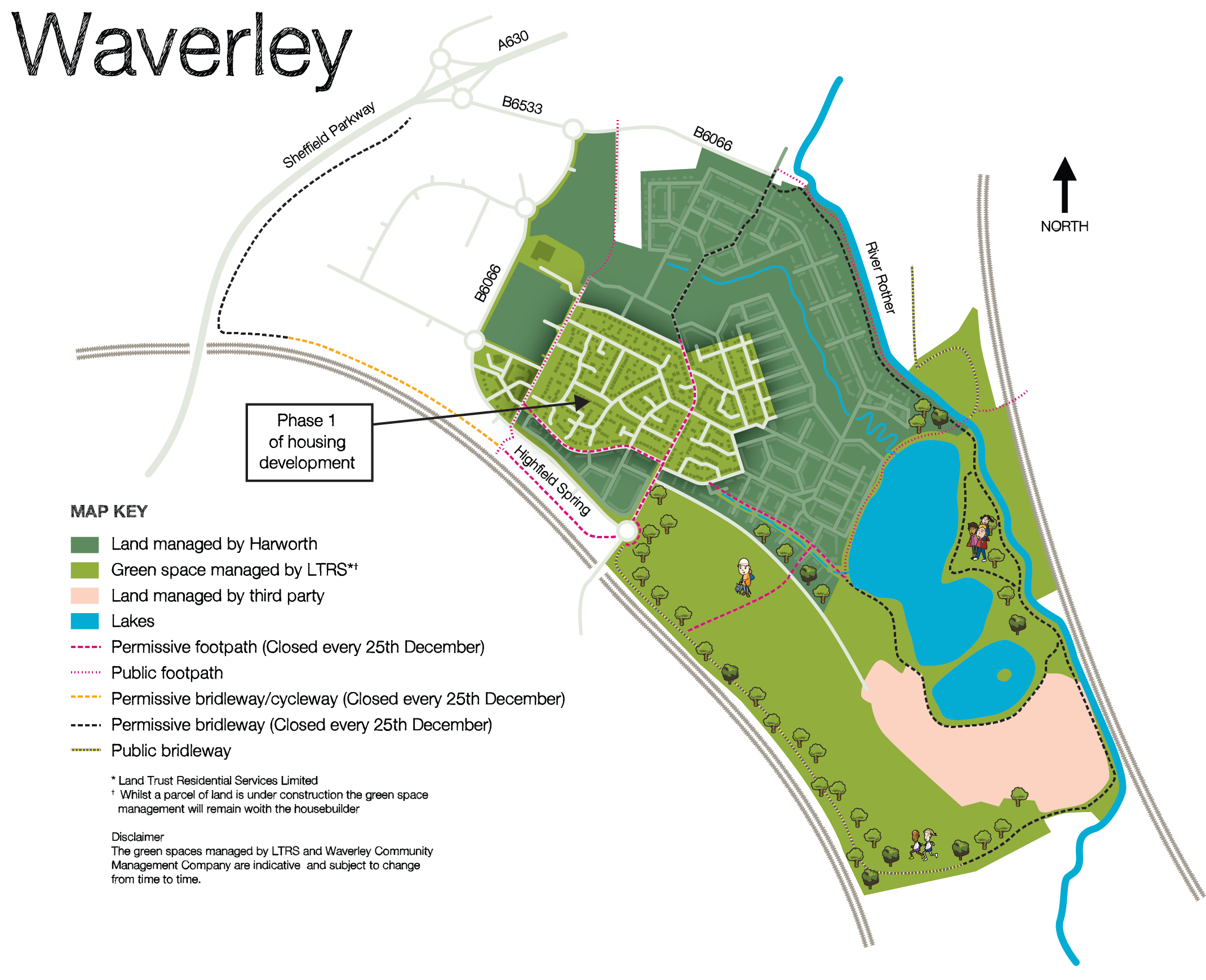 Waverley map