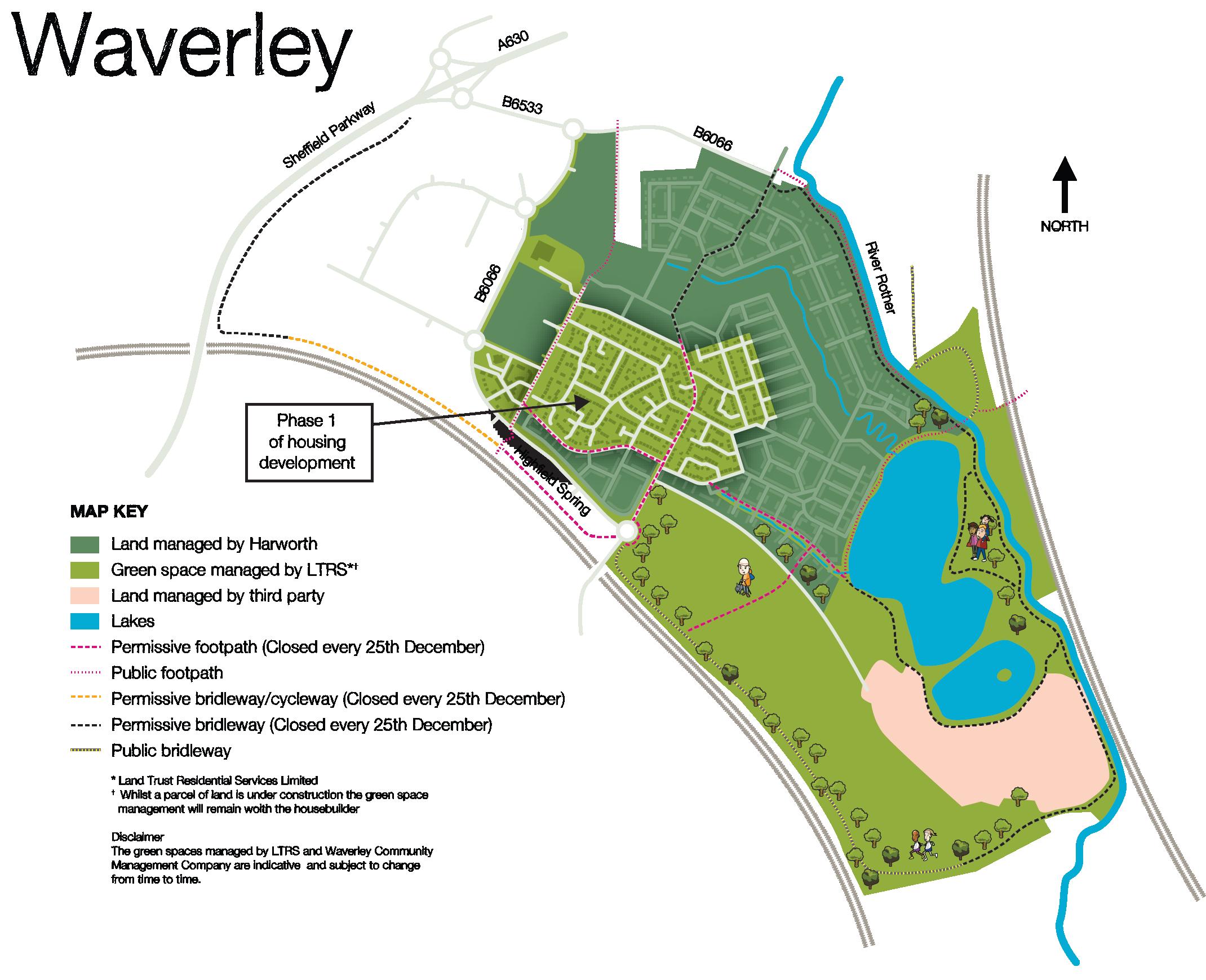Waverley map