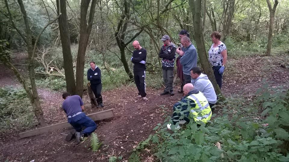 Warrington Green Angels learn from Neil McMahon of The Conservation Volunteers
