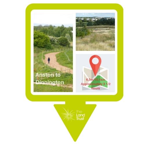 Walking route - Anston to Dinnington