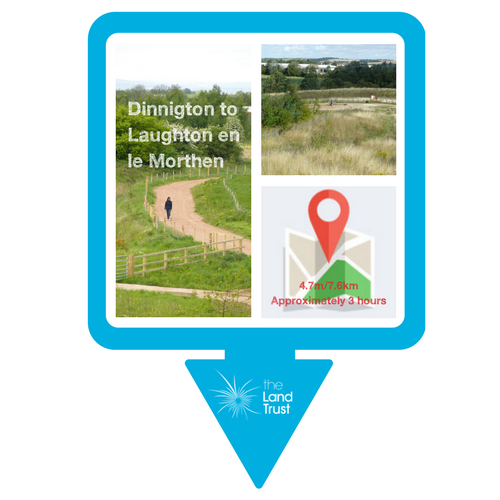 Walking route - Dinnington to Laughton en le Morthen
