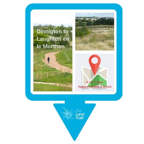 Walking route - Dinnington to Laughton en le Morthen