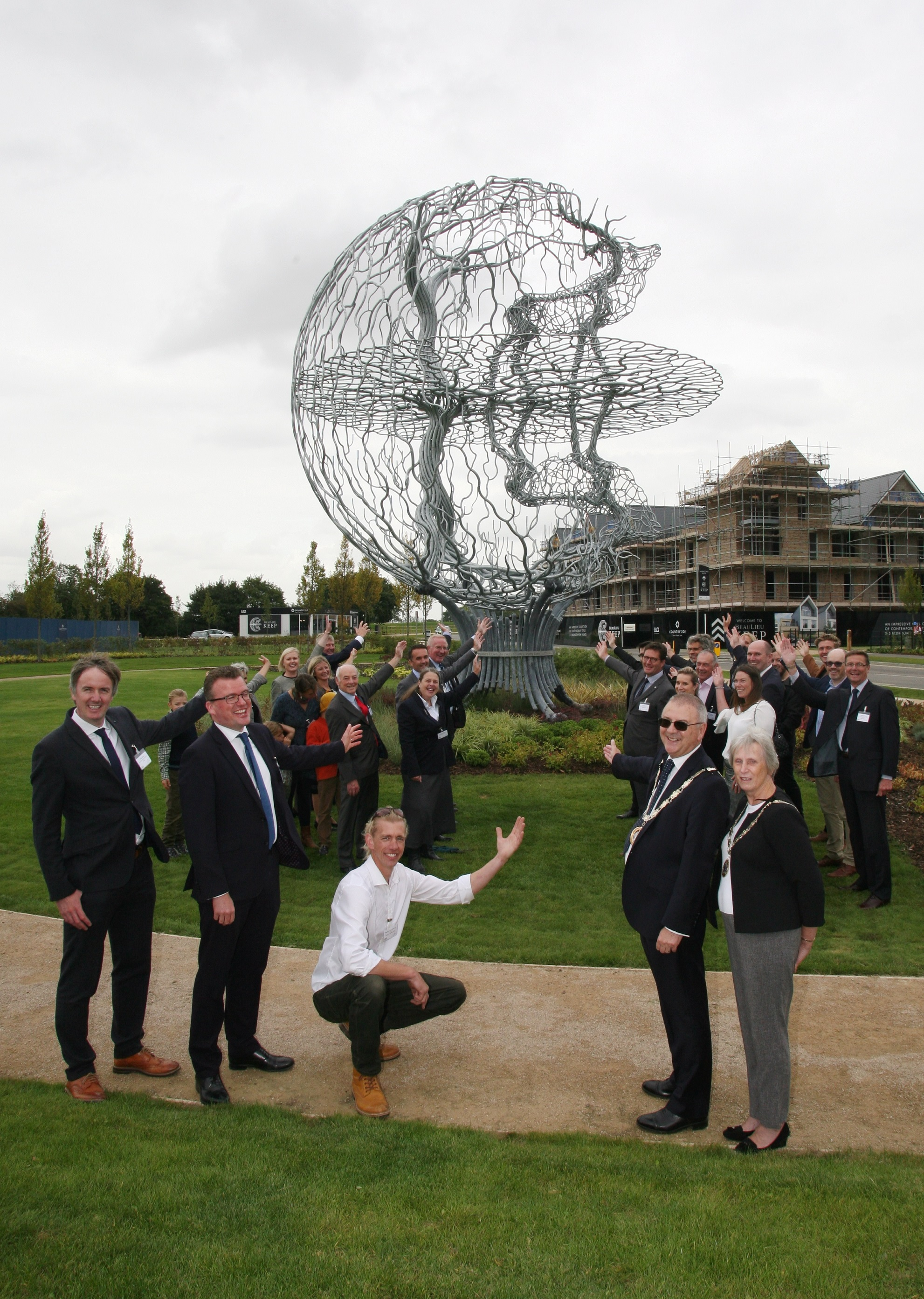 The unveiling of the 'Crowned Stag' at Beaulieu