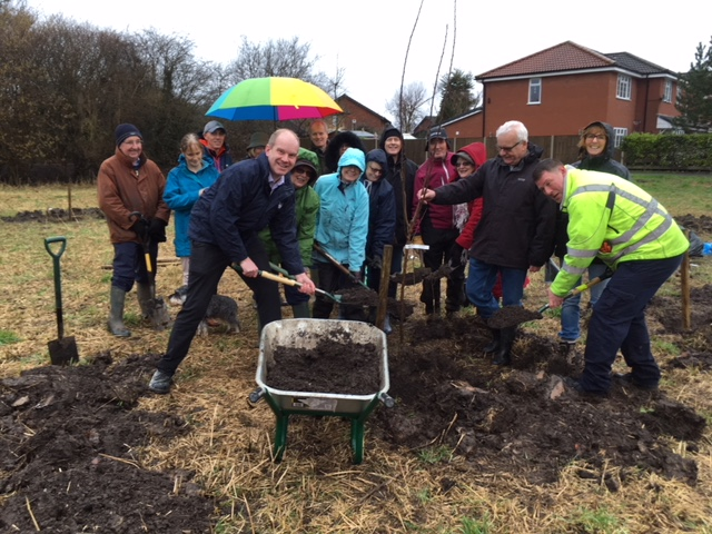Planting a fruit orchard in Westbrook, Warrington