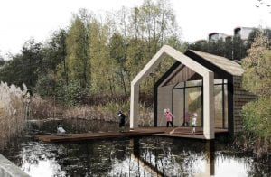 Greenwich classroom and pond-dipping platform