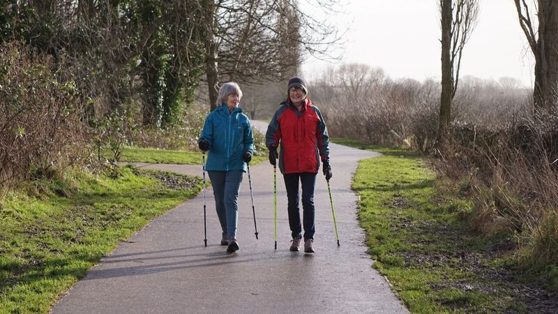 Nordic Walking at Countess of Chester Country Park as part of the Health for Life project