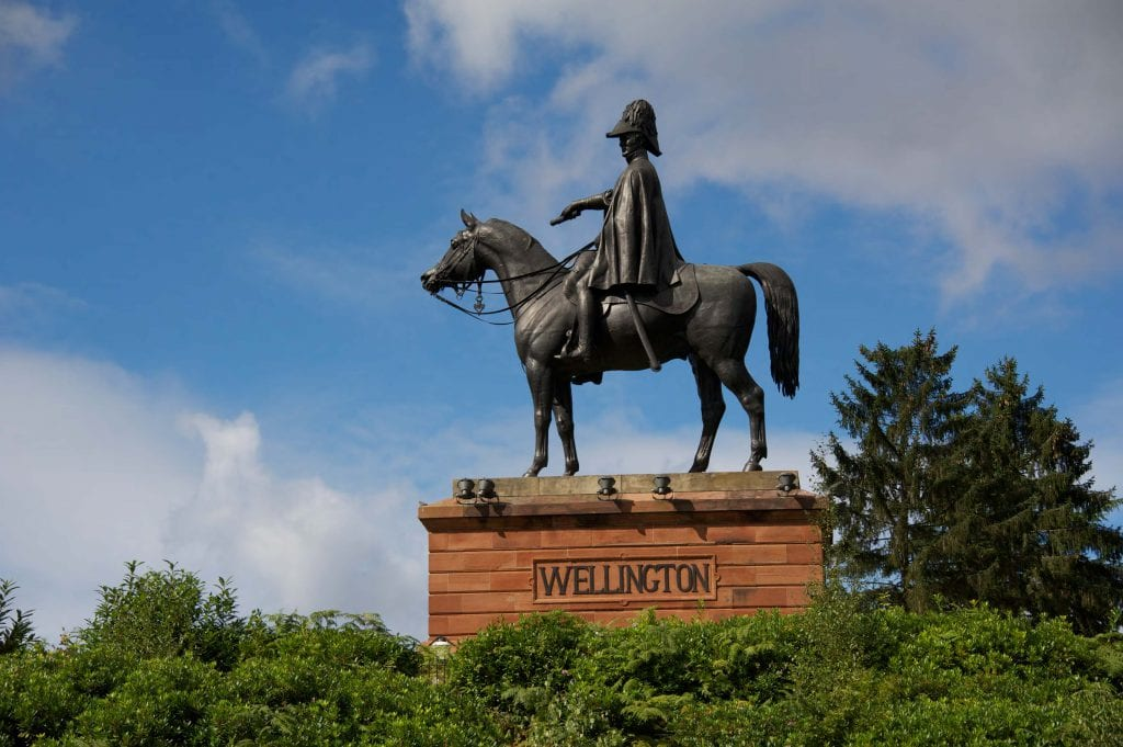 Wellington Statue at Wellesley Woodlands